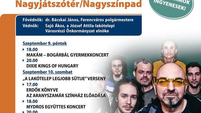 Ferencvárosi Lakótelepi Mulatság 2016. szeptember 9-10.